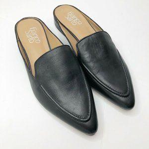 Franco Sarto Sabella Leather Mules Black Size 7.5M